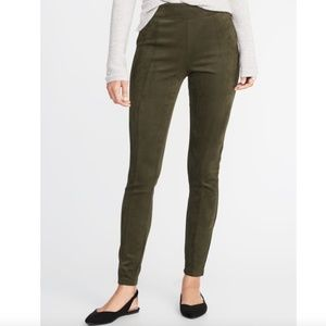 NWT Old Navy Stevie High Waisted Faux Suede Pants